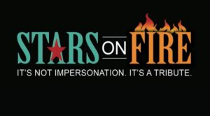 text: stars on fire. it's not an impersonation. it's a tribute