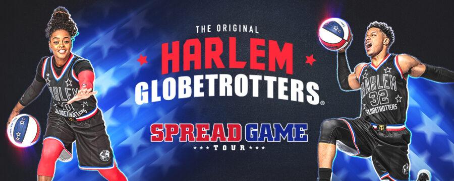 harlem globetrotters spread game tour banner