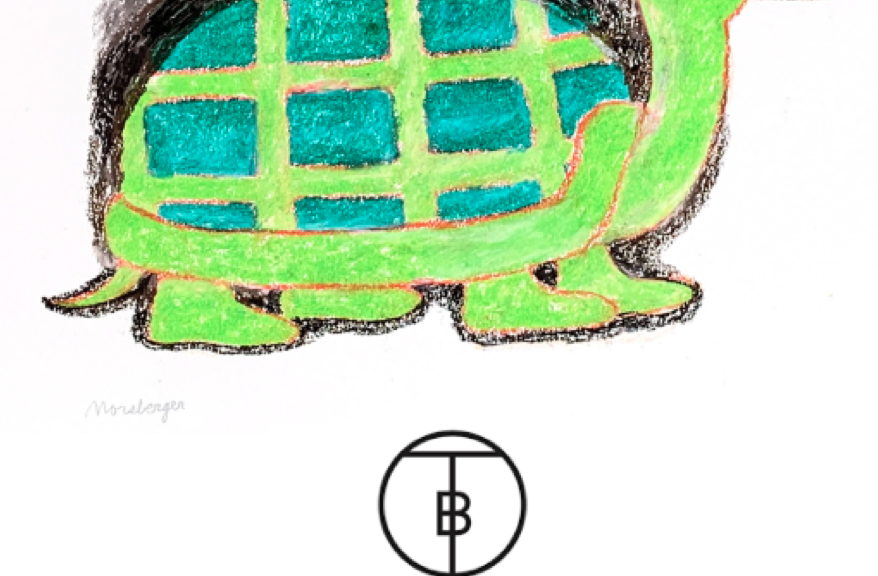 drawing of a turtle in a top hat and smoking a pipe
