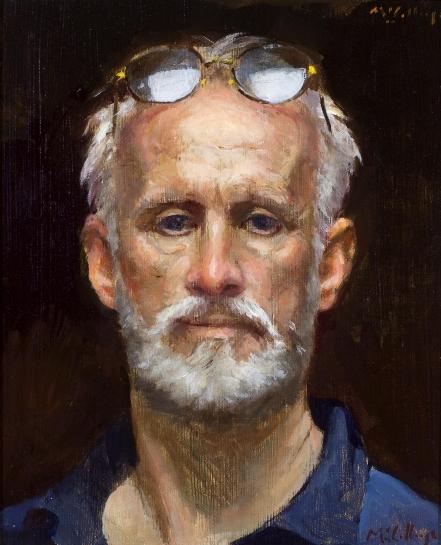 William McCullough, Self Portrait, oil on canvas