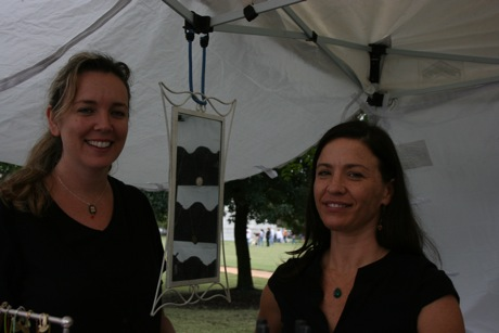 Owners of the Scarlet Poppy Jewelry Design at the Farmers Market
