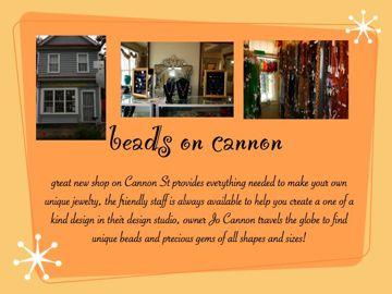 Beads on Cannon, neighborhood bead store, downtown Charleston sc
