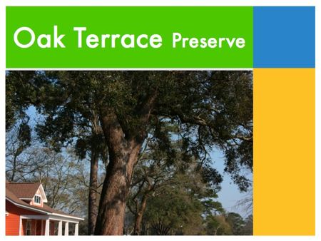 Oak Terrace Preserve Development North Charleston