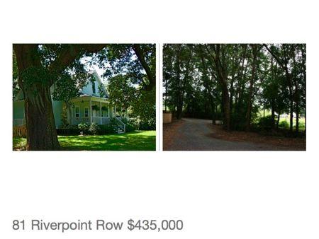 Home for sale on the water on James Island near Charleston South Carolina.