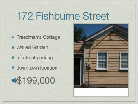 172 Fishburne St Downtown Freedman's Cottage easy walk to park or colleges only $199,000