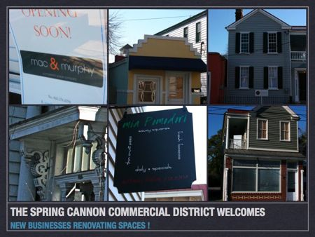 New businesses join the spring and cannon corridor in downtown Charleston Sc