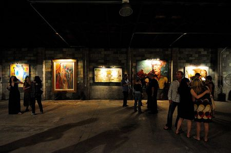 Art patrons are amazed at the monumentality of the new space