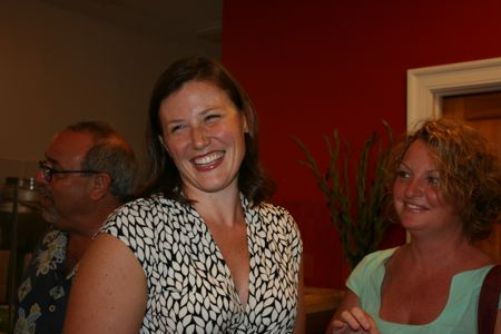 Owner Lauren Mitterer is all smiles as she greets guests