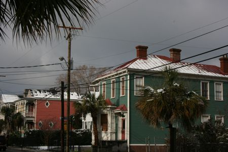 Snow on Saturday Morning Spring St Charleston Sc