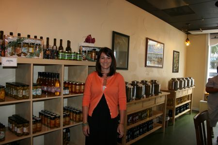 Olive oil shop store manager Melissa Price is a great tour guide and knows all about olive oils and vinegars