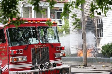 Fire on Spring St in downtown Charleston Sc Elliotborough