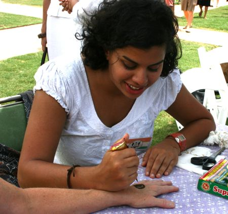henna hand painting at last years India Fest at Marion Square in Charleston South Carolina