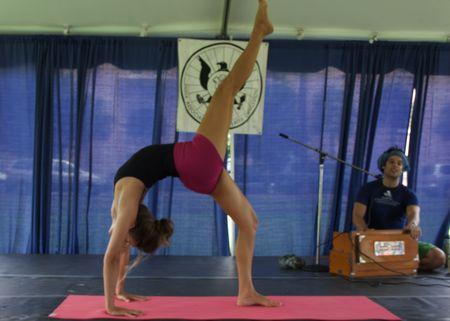 Jivamukti Yoga Demonstration at last years India Fest at Marion Square in Charleston South Carolina