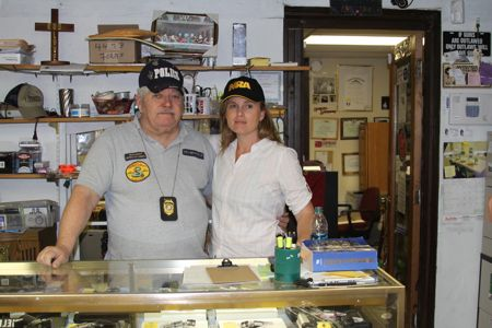 """Instructor HB """"Barney"""" Limehouse (left) poses with the author of this blog post"""