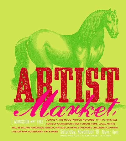 Artist Market Arts and Crafts show and sale in downtown Charleston Sc