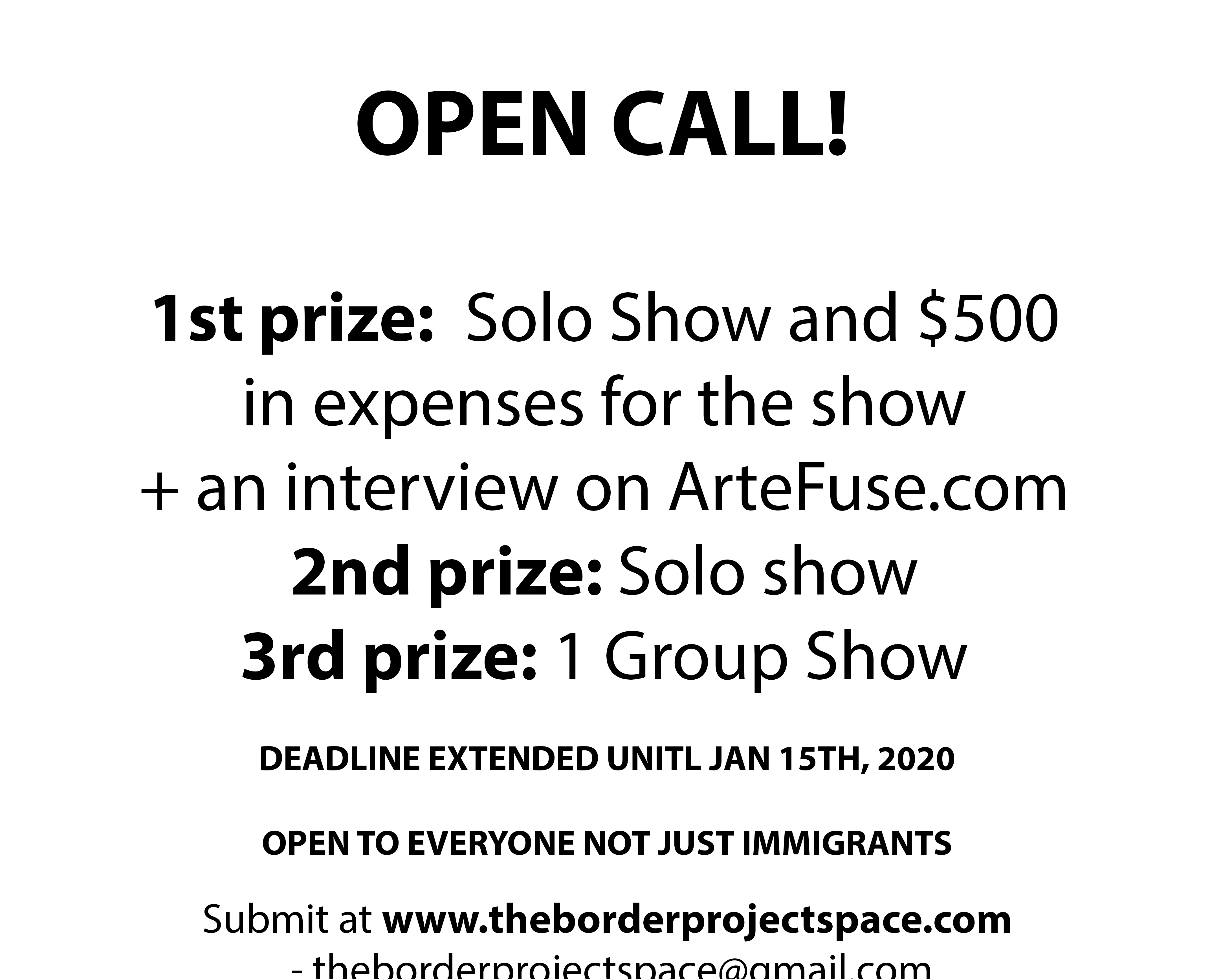 Jan 15 OPEN CALL BEST LARGE no heading