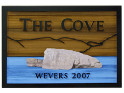 the cove sandblasted custom signs