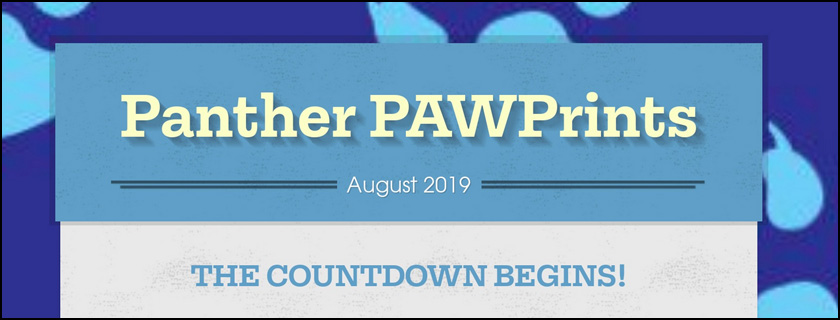 August 2019 PAWPrints Newsletter