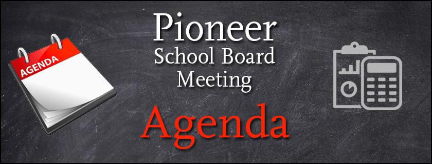 Monday, November 11th, 2019 Board Meeting Agenda