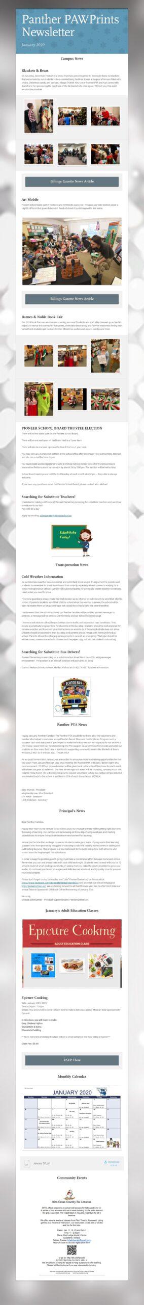 Jan 20 Newsletter