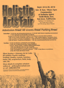 Holistic Arts Fair Flyer