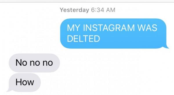 My instagram was stolen