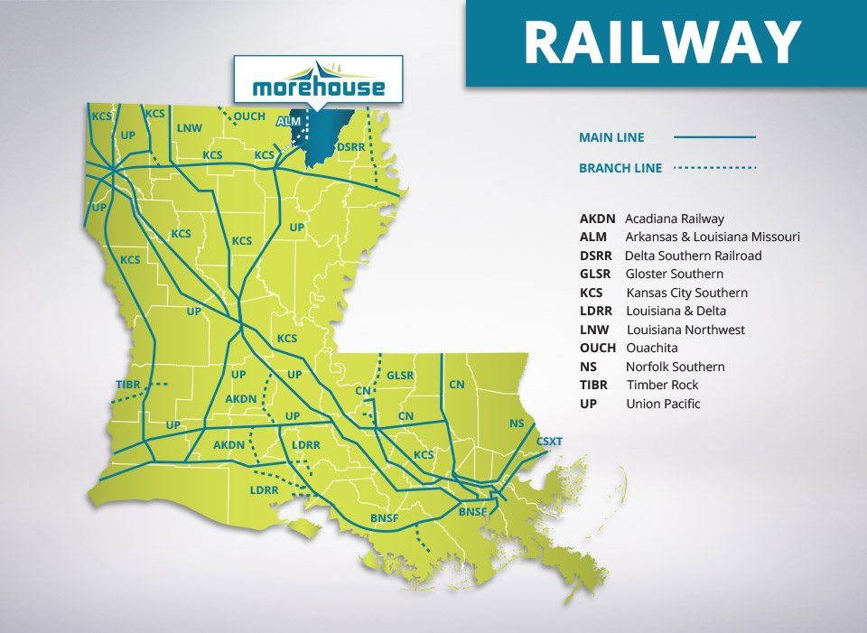 Railroads in Morehouse Parish