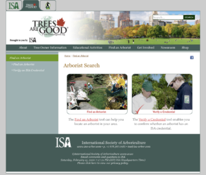 Trees Are Good: Verify Arborist Certification