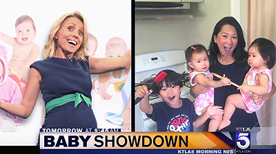 Jessica Holmes and KTLA and Baby Showdown
