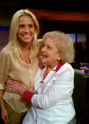 Jessica Holmes KTLA TV Anchor & TV Host with Betty White