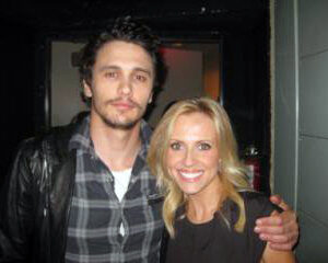 Jessica Holmes KTLA TV Anchor & TV Host with James Franco