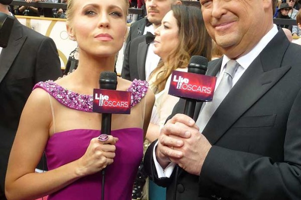 Oscars Red-carpet - Jessica Holmes - KTLA TV Anchor & TV Host with Sam Rubin