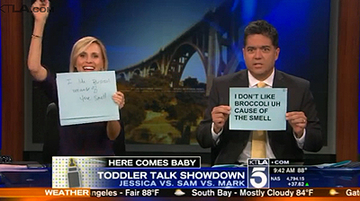 Jessica Holmes and KTLA and Toddler Talk