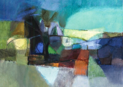 Abstraction, 1964, Oil on canvas