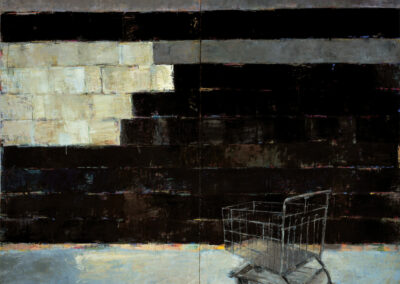 6th Street: The Night Sky, 1998, 12' x 14', Oil on canvas