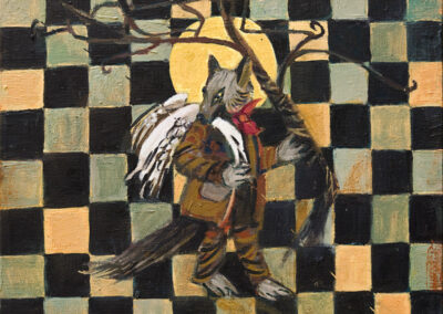 "The Fox #7, oil on canvas, 8"" x 10"", 2006 - 2008"