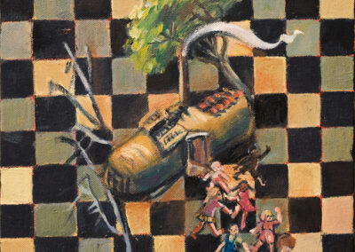 "The Old Woman in the Shoe #5 oil on canvas, 8"" x 10"", 2006 - 2008"