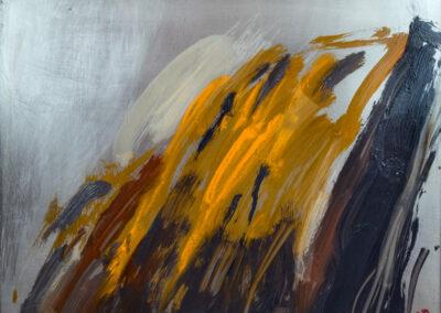 """Untitled, 2018, 10"""" x 12"""", Oil on steel"""