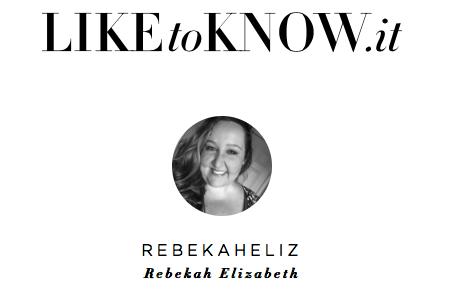 liketoknow.it, LTK.it, instagram, like to know it, giveaway, rebekaheliz
