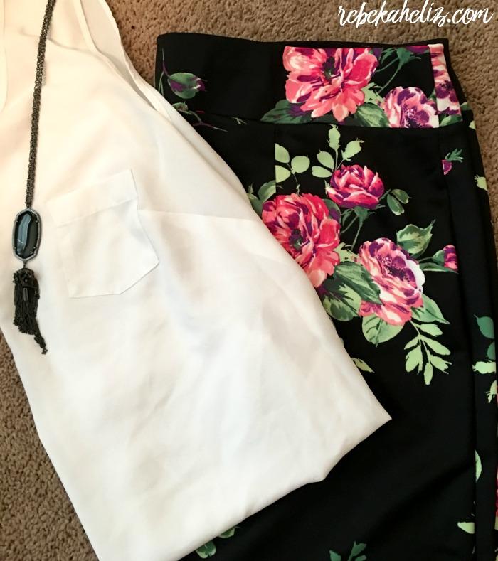 ashley stewart, spring, spring style, style, rose, rose skirt