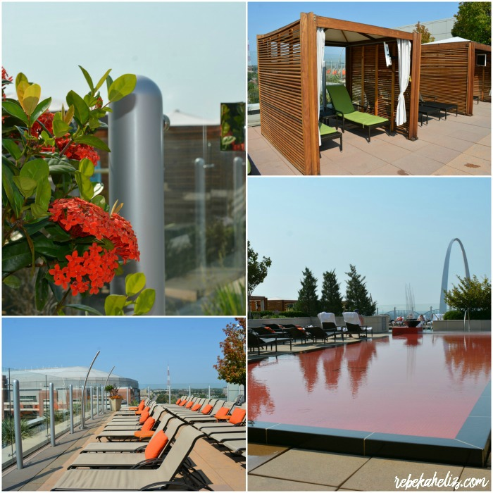 four seasons, st louis, four seasons st louis, hotel, luxury hotel, pool, flowers, cabana, the arch