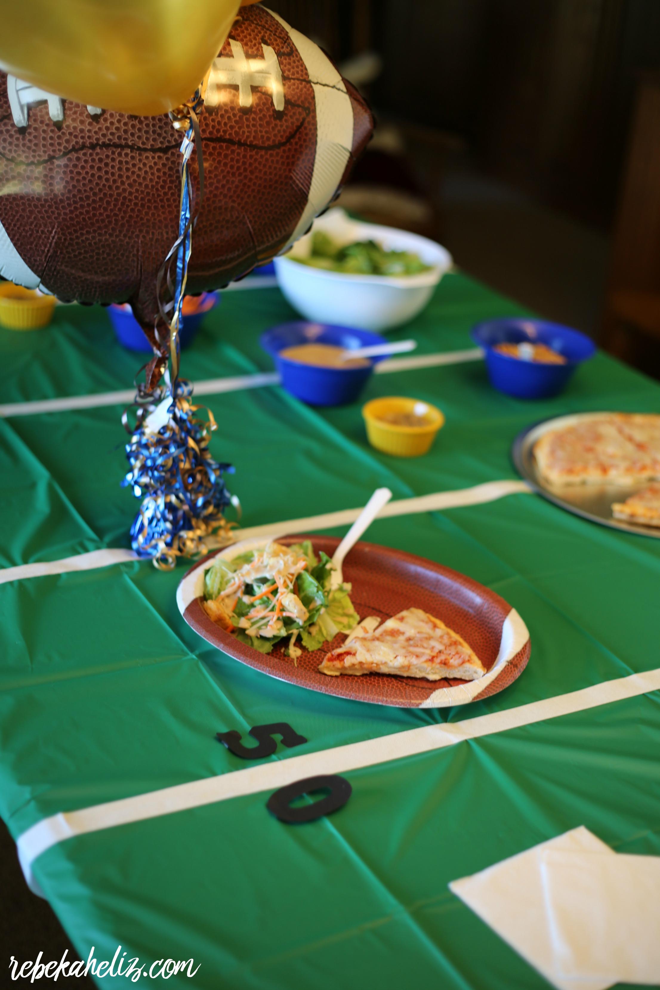 tony's pizza, pizza, cheese pizza, football, football party