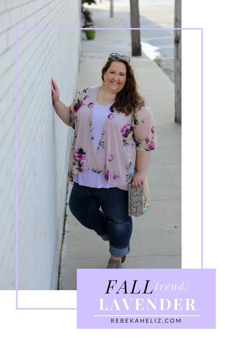 lavender, fall, fall style, purple, ootd, wiw, #rebekahelizstyle, plus size style, plus size fashion, tory burch, steve madden