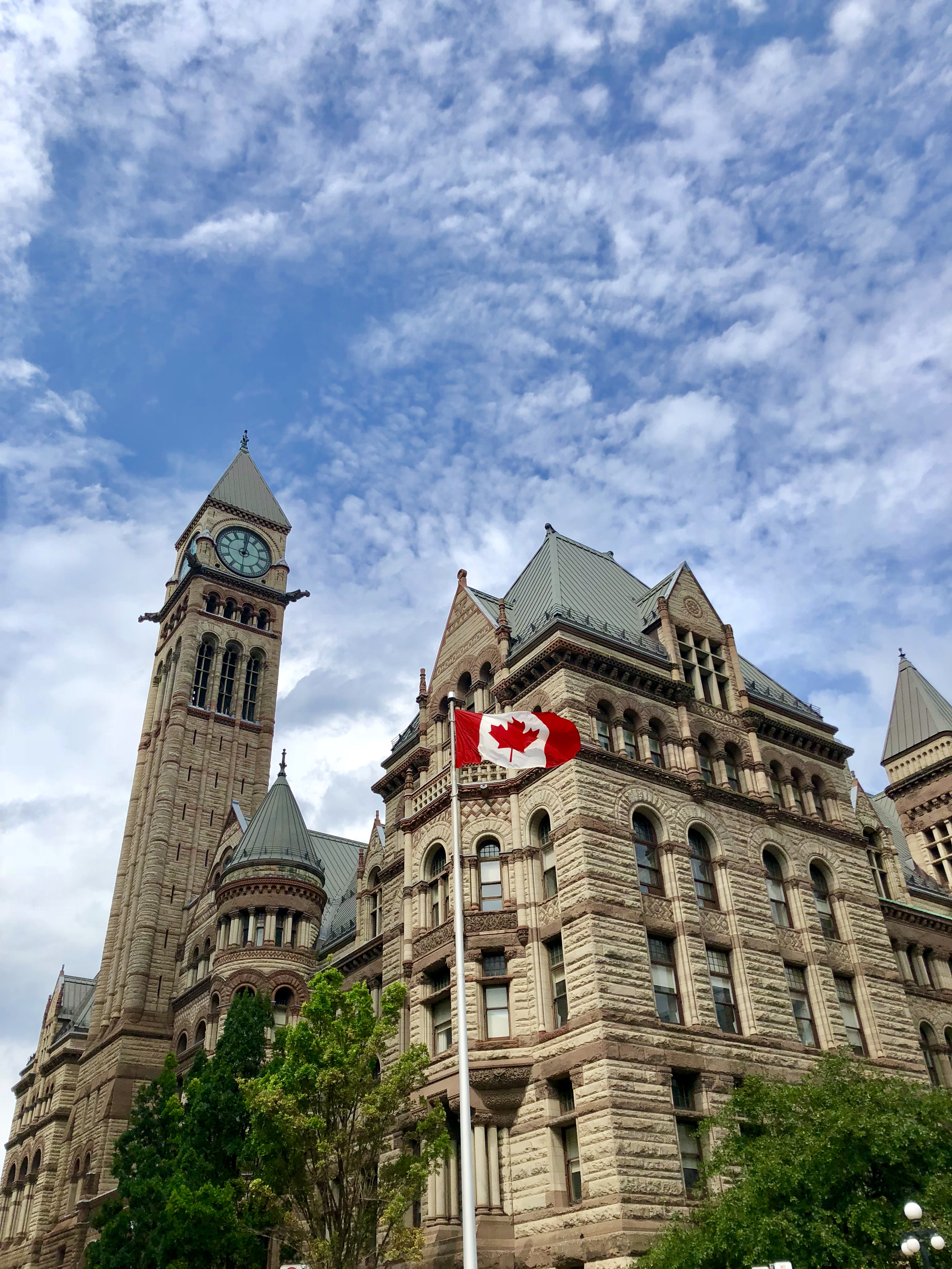 toronto, travel, travel Tuesday, Canada, maple leaf, Canadian flag, old city hall, #rebekaheliztravel