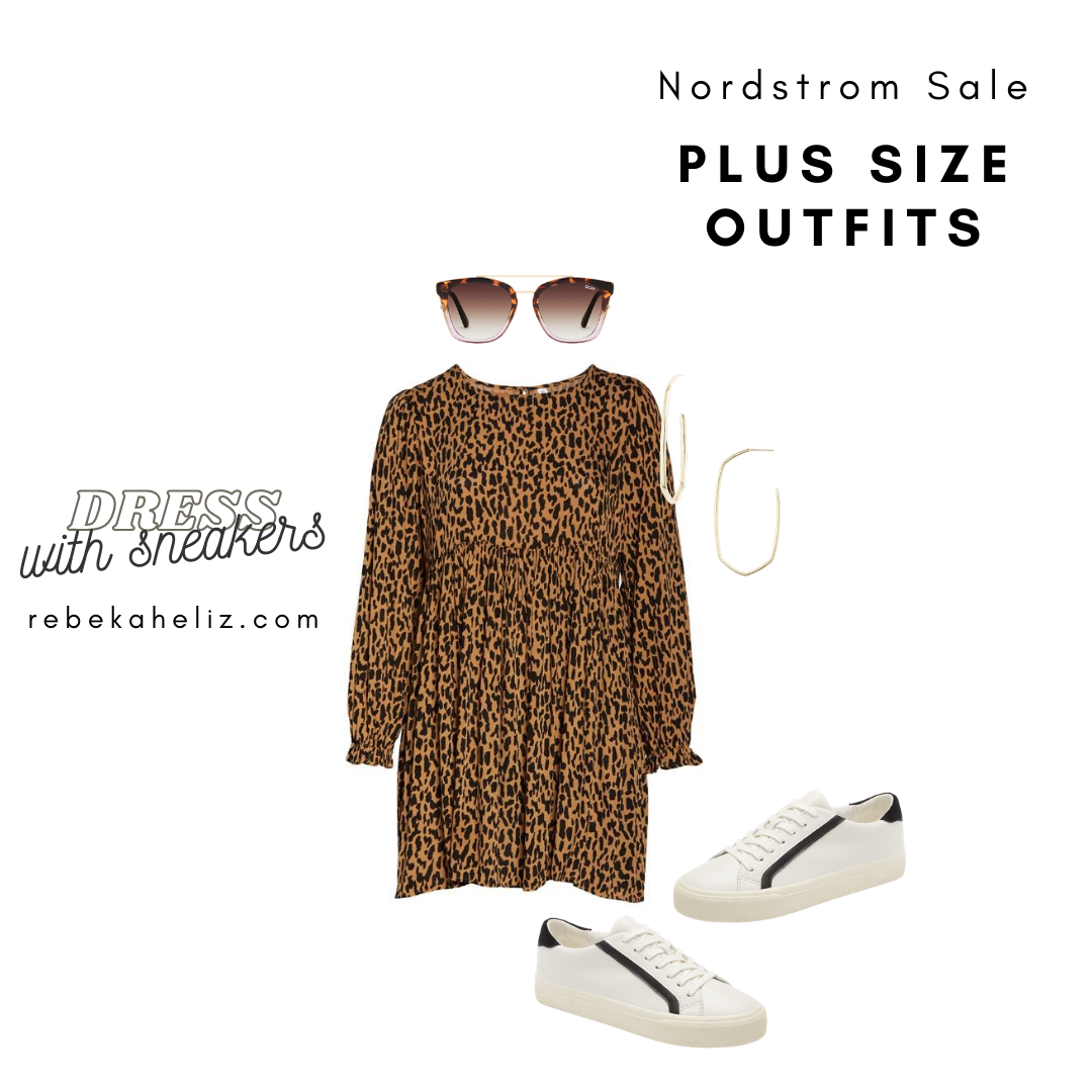 Nordstrom Sale, nsale, leopard dress, plus size outfits