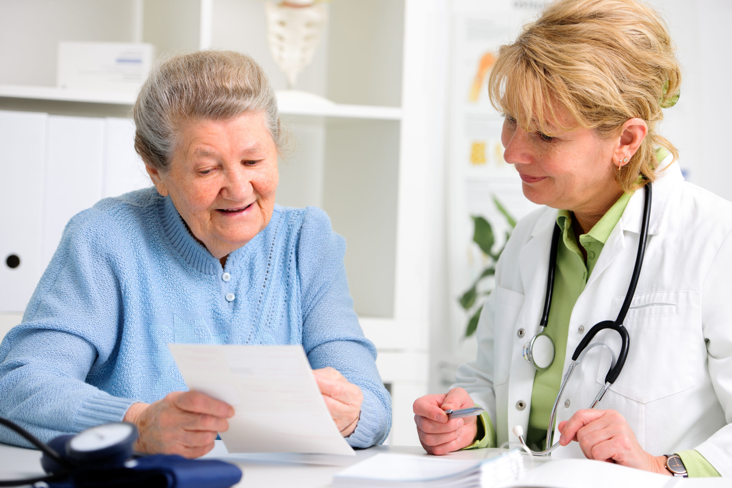 Patient consults physician