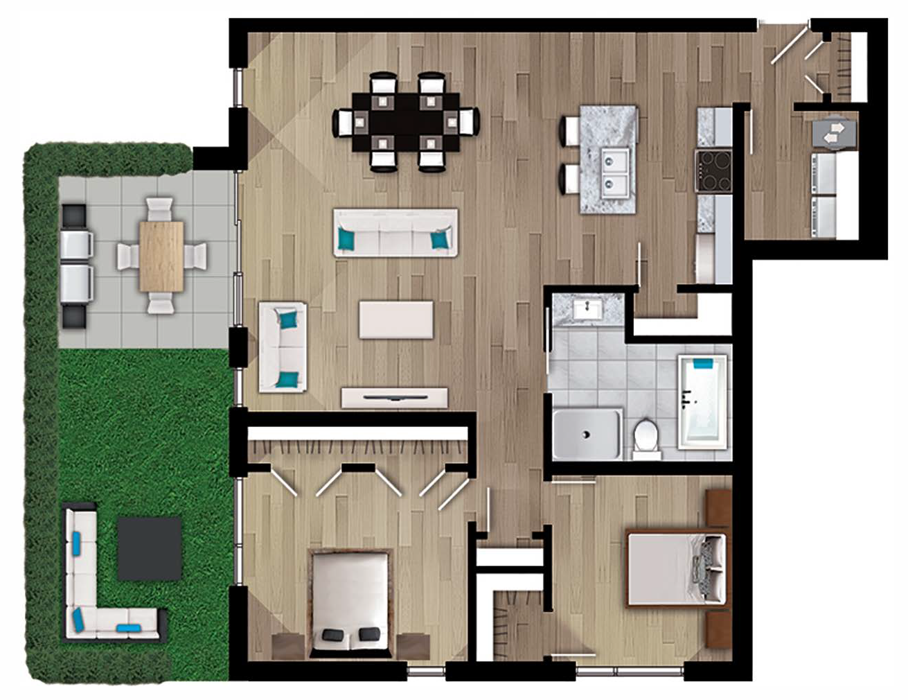 Plan appartement 105