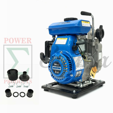 Sigma Gas Engine Powered Water Pump 3HP 98cc 1.5″ inch Inlet Outlet Flood Remove