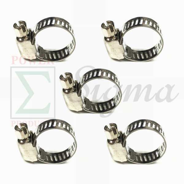 """50PCS 1//2/""""-3//4/"""" Adjustable Stainless Steel Drive Hose Clamps Fuel Line Worm Clip"""