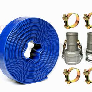 POWER PRODUCTS Sigma 1-1//2 1.5 150E Aluminum Type E Camlock Fitting Male Adapter X Hose Barb
